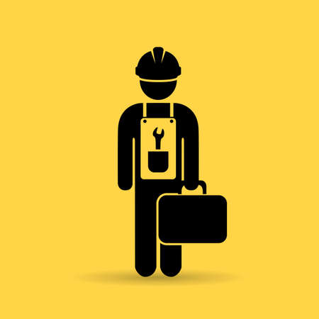Repairman vector icon Illustration