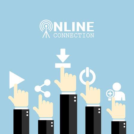 hand illustration: Internet concept poster