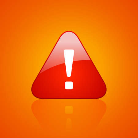 dangers: Red exclamation danger icon