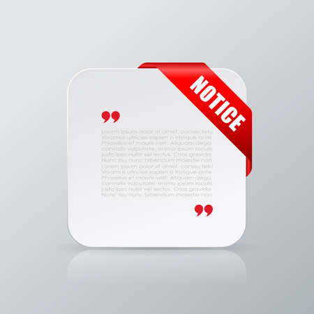 notice: Notice quote text card