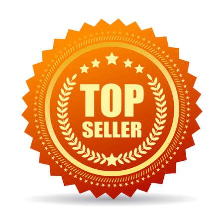 Top seller gold seal 向量圖像