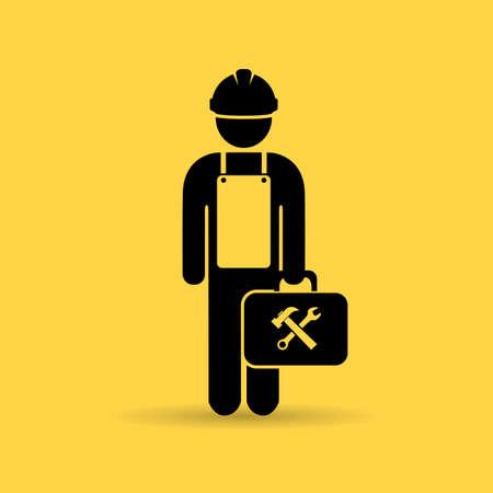 herramientas de trabajo: Icono Trabajador
