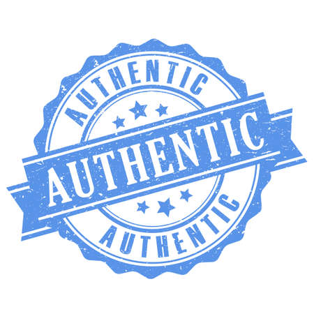 authentic: Authentic rubber stamp