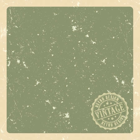 green paper: Old retro green paper background Illustration