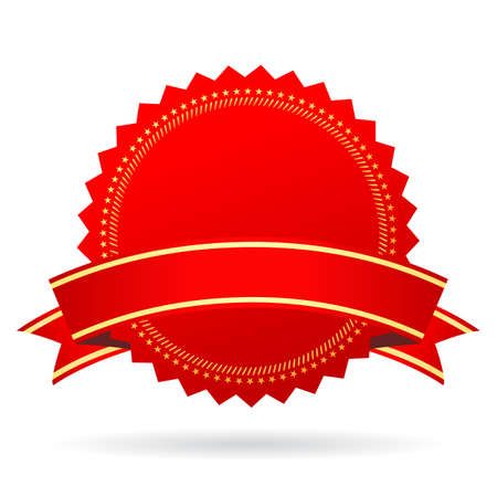 guaranty: Red blank award icon Illustration