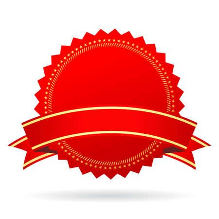 guaranty: Red blank award icon Illustration