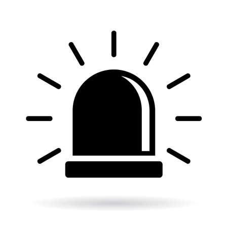 Alarm siren icon