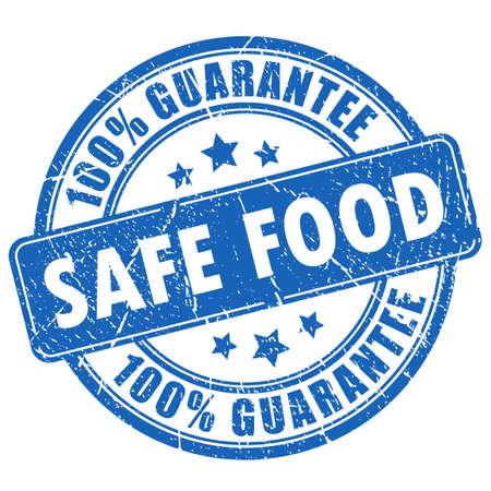 food poison: Safe food guarantee stamp Illustration