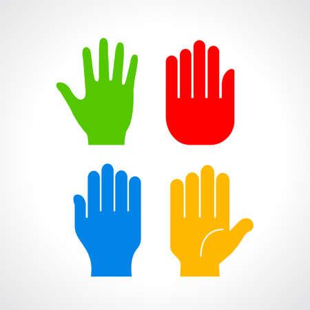 Human hand palm silhouette Illustration