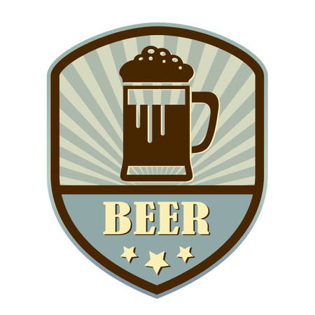 suds: Beer retro style shield label