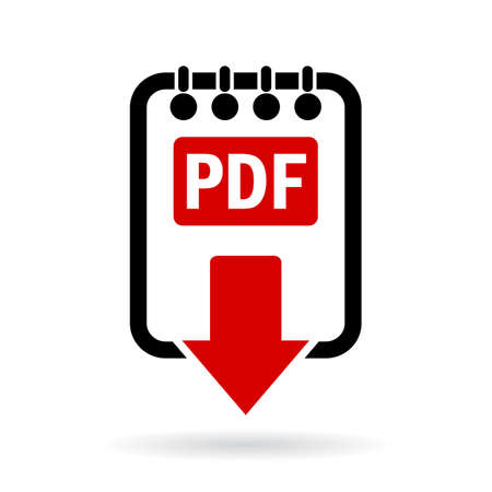 Pdf document download icon Stock Vector - 53955941