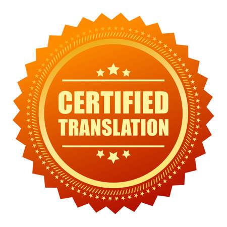 gold seal: Certified translation gold seal