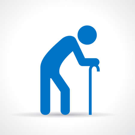 anciano: Icono de la persona de edad