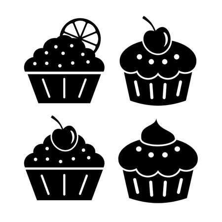 dainty: Cupcake icons set