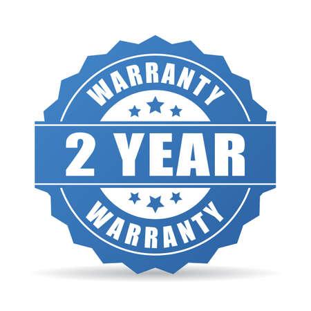 sellos: 2 años de garantía icono Vectores