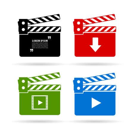 cinematograph: Video clapper icon