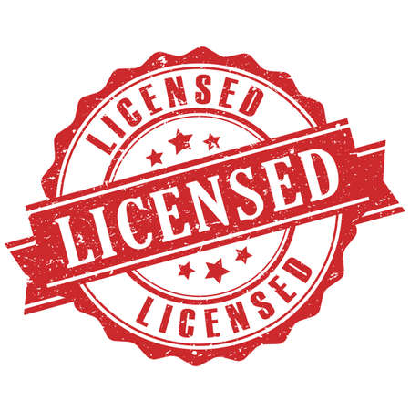 licensed: Licensed product stamp
