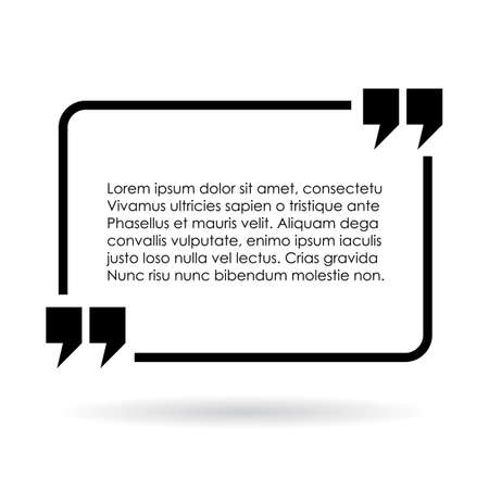 double page: Rectangular quote text frame Illustration