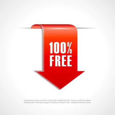 no edges: 100 free ribbon tag