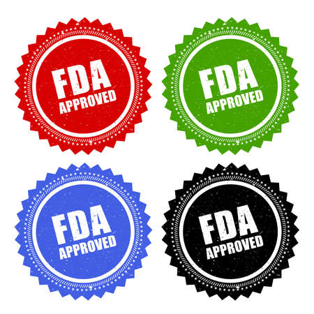 fda: Fda approved stamp Illustration