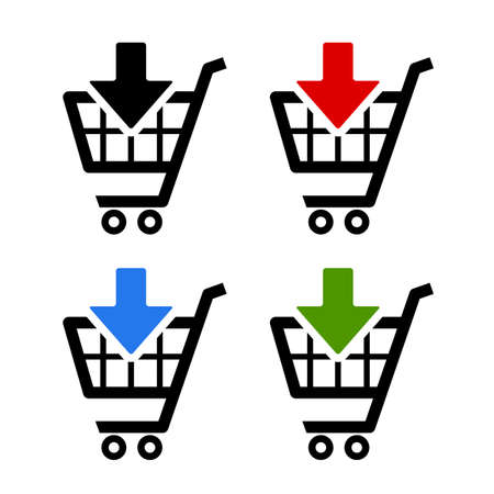 retail place: Add to card icons set