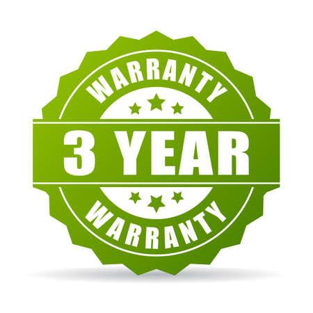 3 years warranty icon