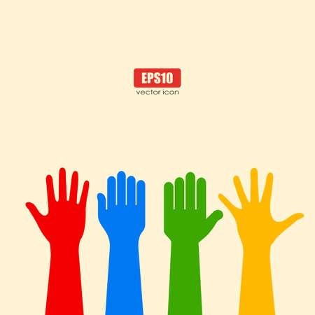 人間の手のポスター