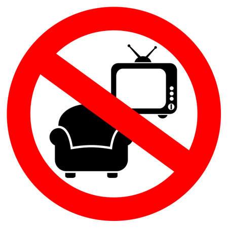 laziness: No laziness sign Illustration