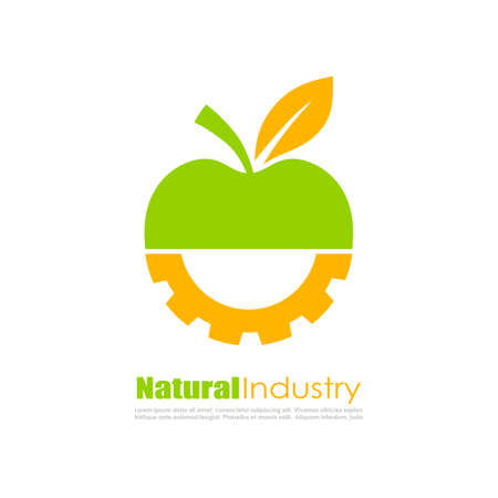 food industry: Abstract biotechnology logo Illustration