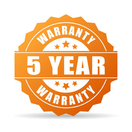 5 years warranty icon
