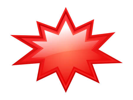starburst: Red bursting star Illustration