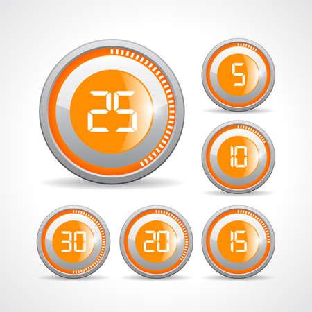 second: Timer buttons set