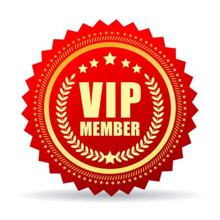 Vip miembro de icono Ilustración de vector