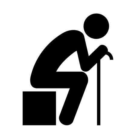 Old sitting person Illustration