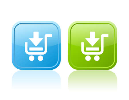 cart icon: Shopping cart buttons