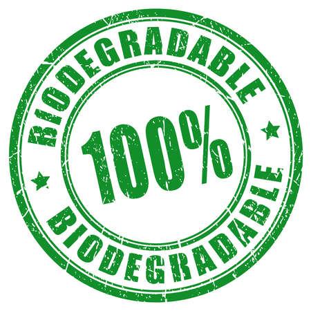 biodegradable: 100 biodegradable stamp