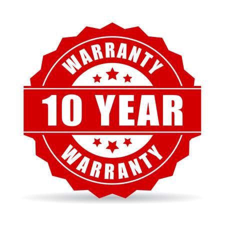 10 Jahre Herstellergarantie Symbol
