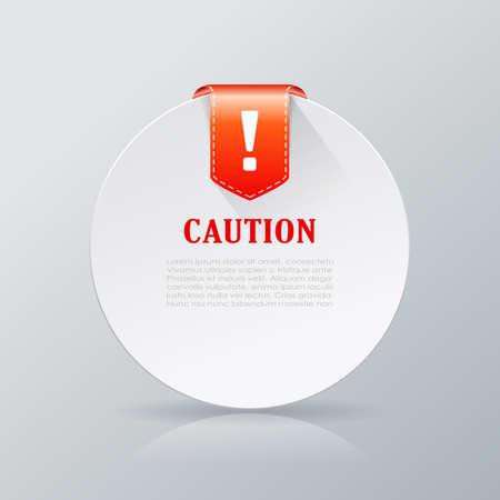 notice: Caution notice card