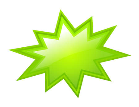 cartoon star: Green bursting star