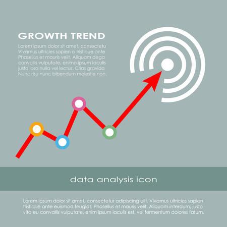 Growth trend diagram Illustration