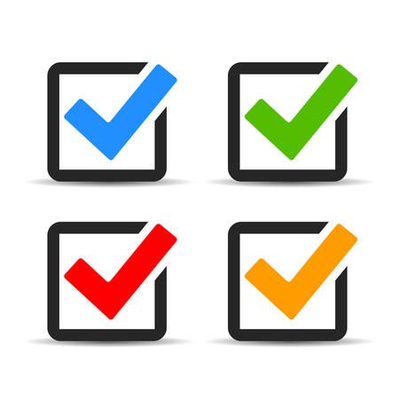 icone Casella di controllo impostate Vettoriali