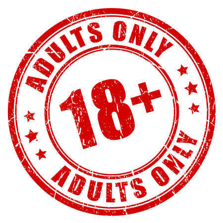 Under 18 rubber stamp, adults only Imagens - 55145293