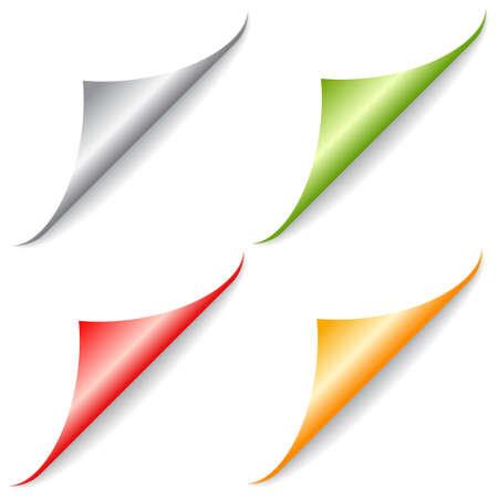 folded: Page peel folded corners Illustration
