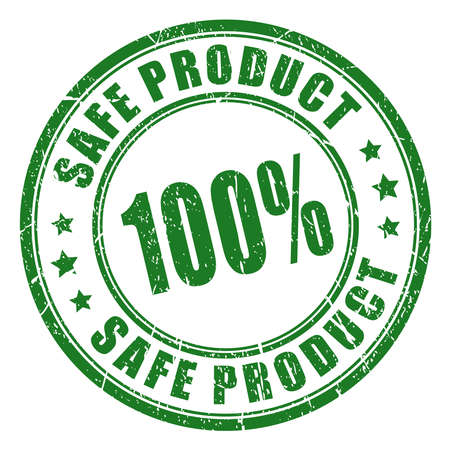 safety: Safe product rubber stamp