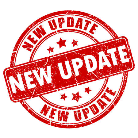 Nowa aktualizacja gumy pieczęć Ilustracje wektorowe