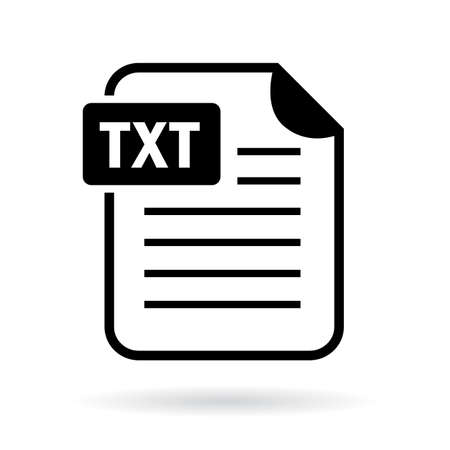 Text file icon