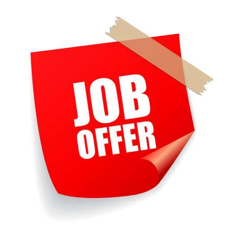 oferta de empleo de la etiqueta engomada Ilustración de vector