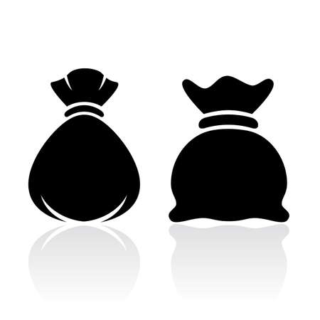 money sack: Money sack bag icon Illustration