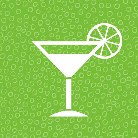 coquetel: ícone do cocktail de cal Ilustração