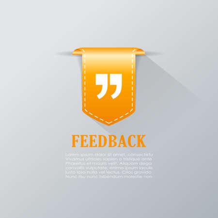 feedback: Feedback quote mark